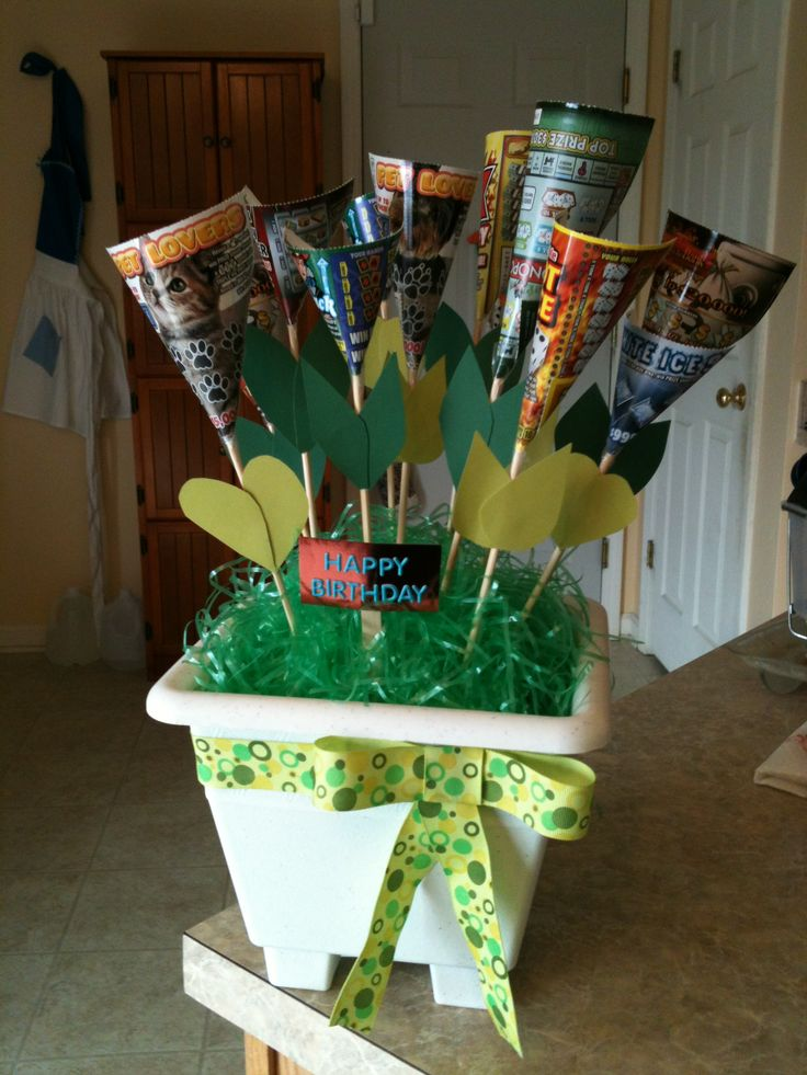 Dads Bday T Lottery Ticket Tree Craft Ideas