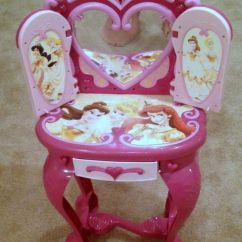 Chair Hair Dryer Ready Room Disney Princess Light Up And Sound Plastic Vanity Table/chair-stool/hair Dryer! | Little ...