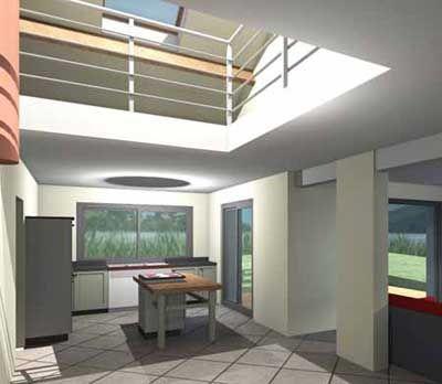 Plan De Maison Contemporaine Avec Mezzanine  1  plans  Pinterest