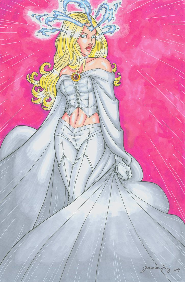 Emma Frost Hand Colored By JamieFayX On DeviantArt White