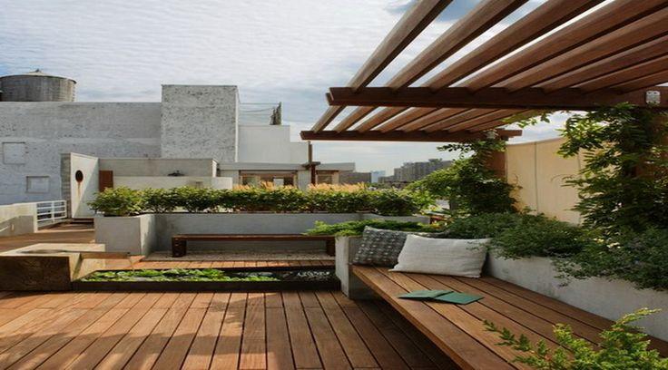 Roof Garden Design Ideas With Wood Roof Garden Design Ideas Roof
