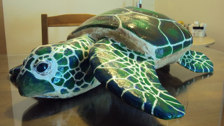 Sea Turtle 2 made with Papier Mache  Papier Mache