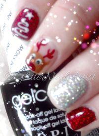 Reindeer & Christmas tree | OPI GelColor manicure, hand ...
