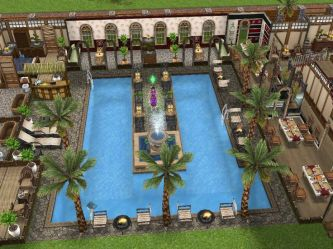 sims freeplay houses pool cool mansion play designs mansions layout center layouts plans area floor game discover