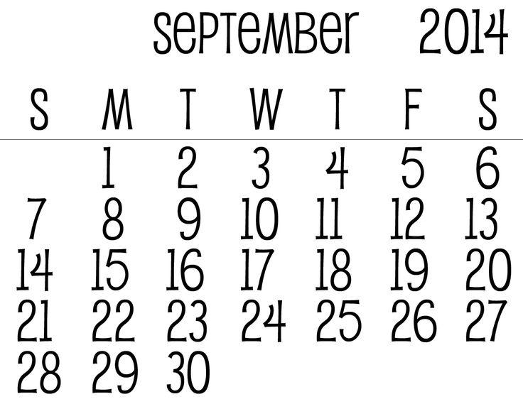 25+ best ideas about September calendar on Pinterest