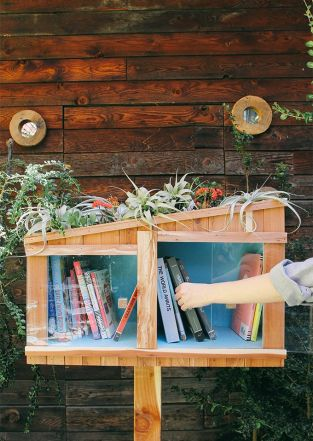 In honor of #NationalLibraryWeek, we are giving away this amazing, handmade Little Free Library!: