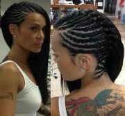 cornrows side hair