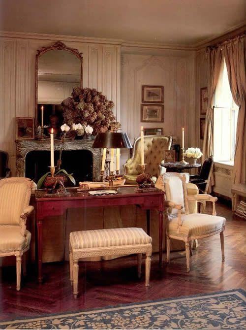 Jackie Onassis living room apartment  French  British Elegance style  Pinterest  Apartment