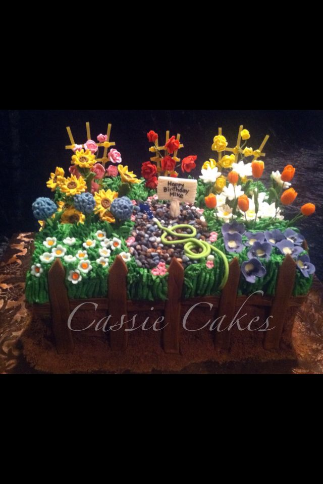 The 77 Best Images About Gardening Cake Ideas On Pinterest