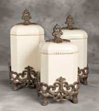 Canisters, Tuscan kitchens and Kitchen canisters on Pinterest