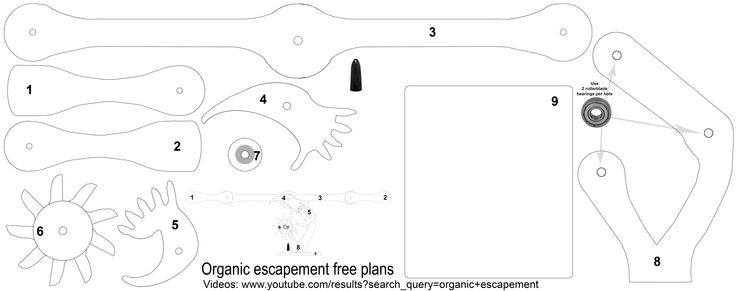 19 best images about Organic escapement plans patterns