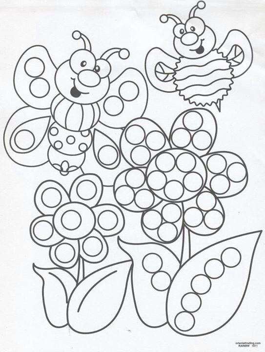 Bingo Dauber Coloring Pages Dot Painting Paint Free