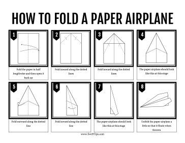 cool paper plane diagram 2007 ford f350 fuse box kids can learn to fold a standard airplane by following the step-by-step instructions in ...
