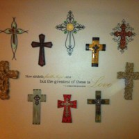 Cross wall decor with scripture