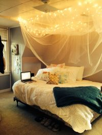 DIY rustic bed canopy | Home decor | Pinterest | Bed ...