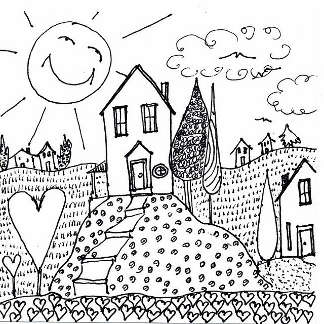 Best 25 Dream House Drawing Ideas