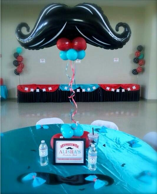 Mustache Decoration Balloon Center Pieces Centros De