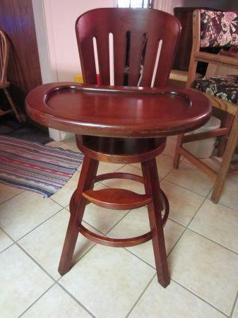 Graco Cherry Wood High Chair  craigslist austin area