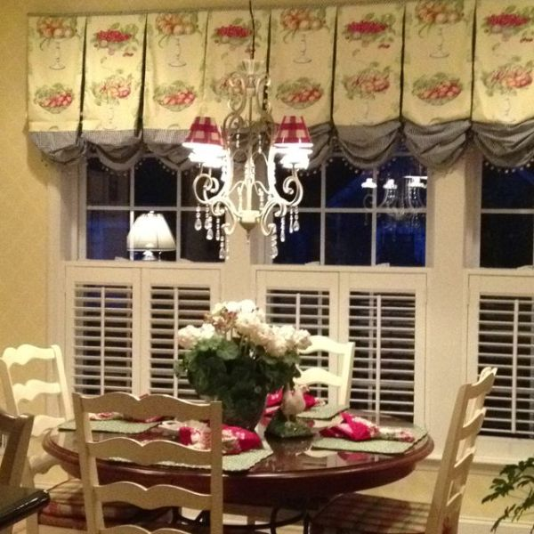 french country kitchen window French country Kitchen window treatments | cottage kitchen