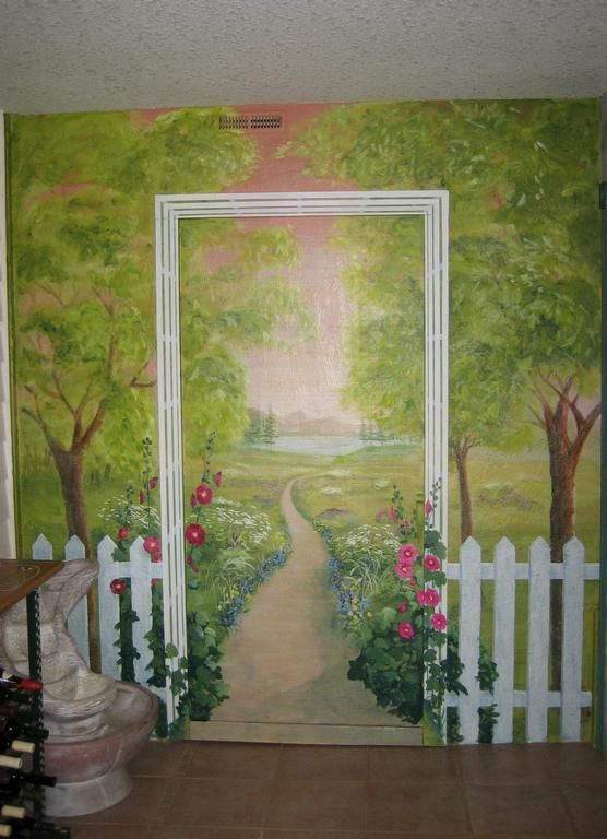 The 25 Best Ideas About Garden Mural On Pinterest Painted Wall