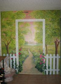 17 Best ideas about Garden Mural on Pinterest | Painted ...