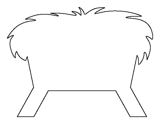 Manger pattern. Use the printable outline for crafts