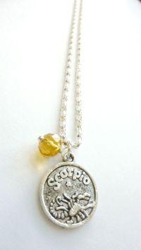 SCORPIO Necklace November birthstone Zodiac jewelry Topaz ...