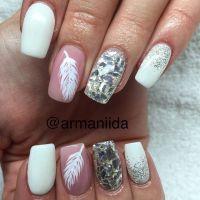 Best 25+ Feather nail art ideas on Pinterest