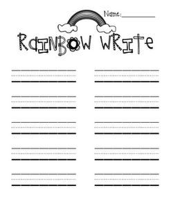 Word free, Spelling words and Rainbows on Pinterest