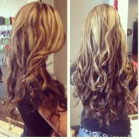 Hair Styles With Blonde O Top Brown On Bottom ...