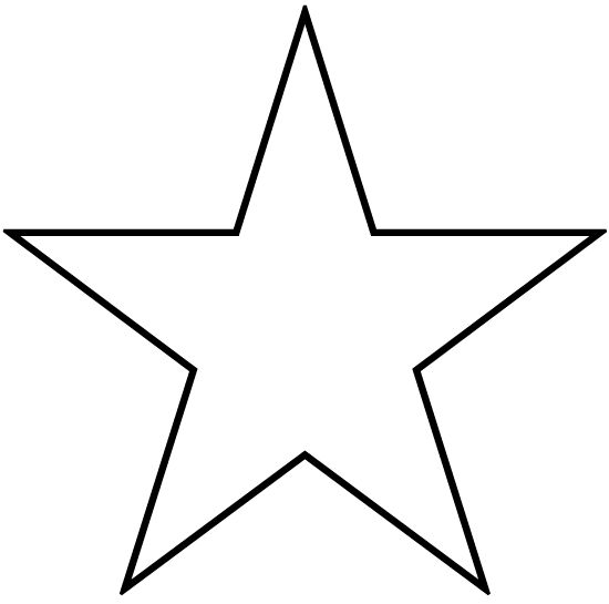 free star shapes patterns