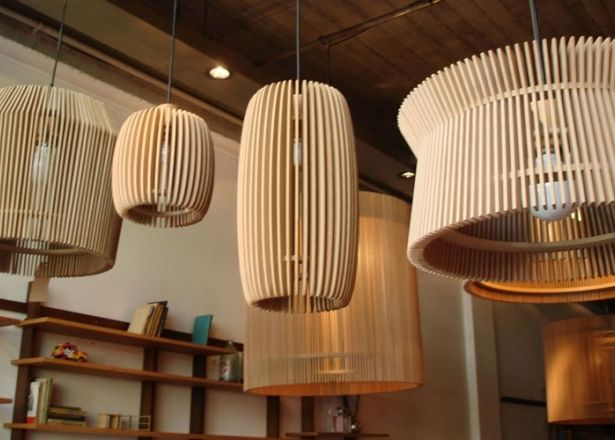 Net muebles  Alejandro Sticotti  lmpara colgante madera