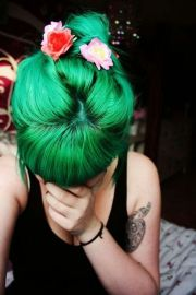 green hair ideas