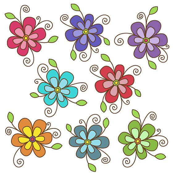 flower clipart set - great