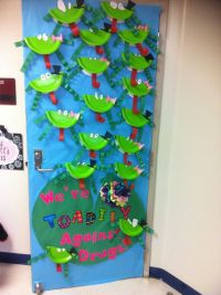 Red Ribbon Week door decoration 2012 | School stuff ...