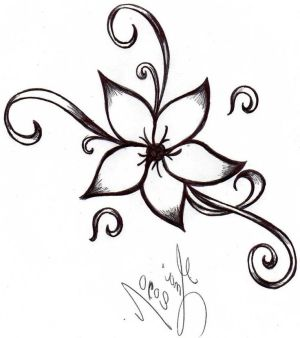 flower draw simple sketches easy flowers drawings cool drawing stuff clipart