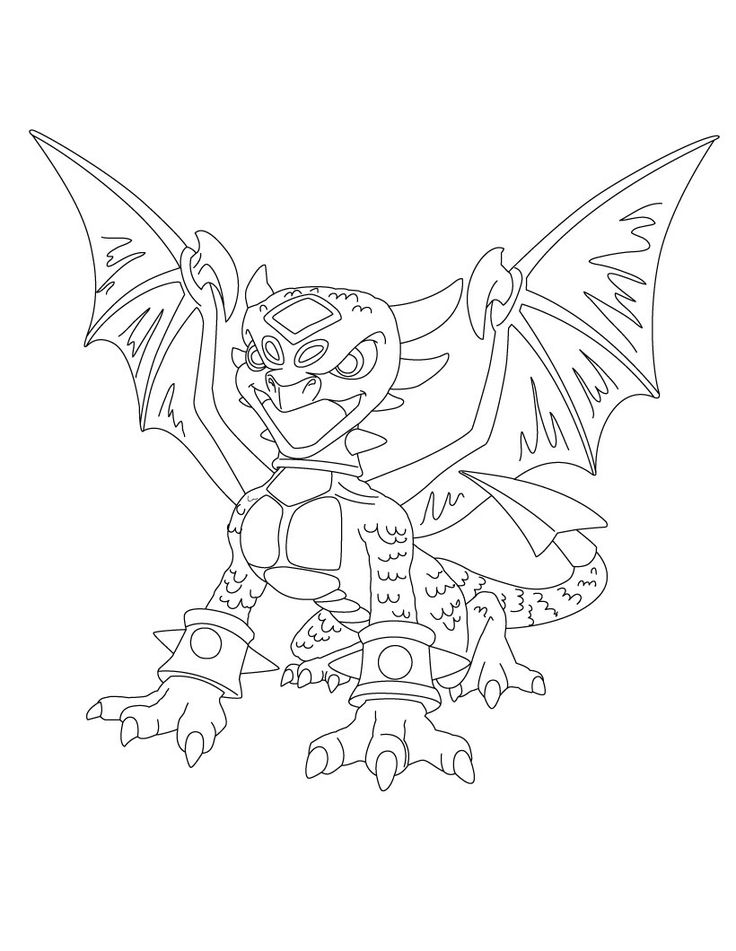17 Best images about Skylander's Coloring Pages on