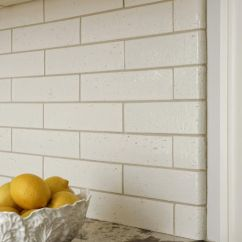 Kitchen Countertops White Black Table Kyoto Beige Gloss Brick Tile With Matching Bullnose ...