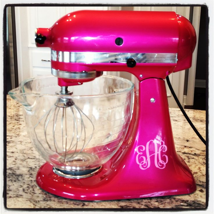 kitchen aid mixer colors storage baskets customized in raspberry ice with ...