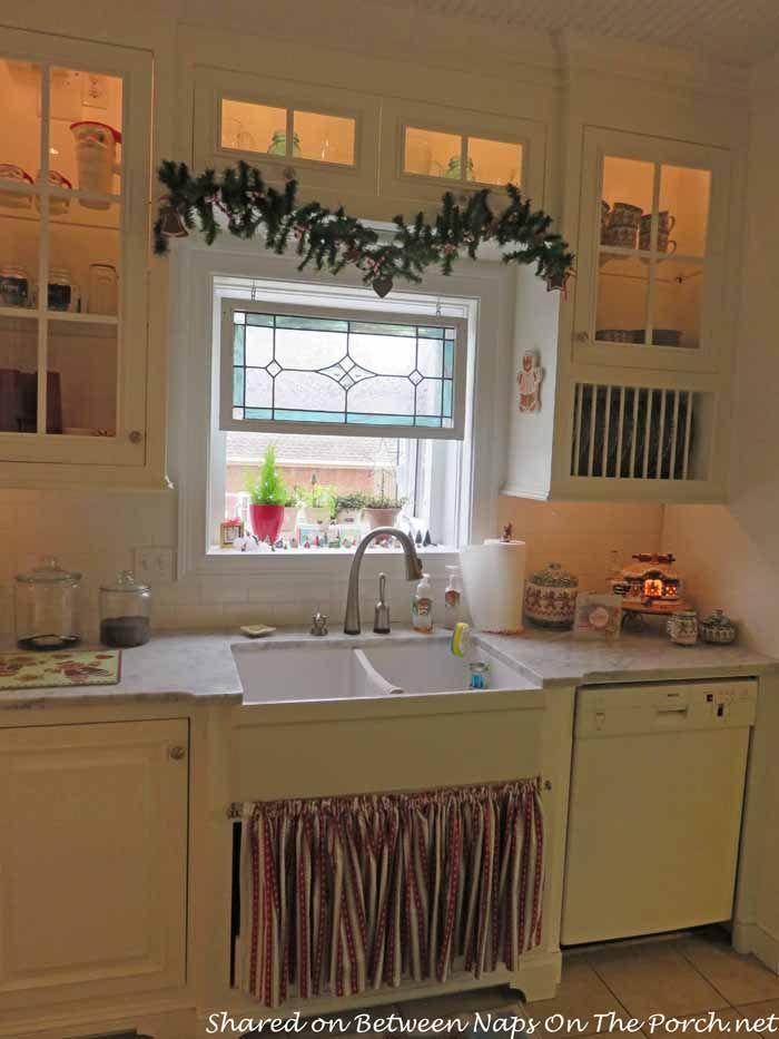 Beautiful Farmhouse Kitchen Renovation  Stained glass