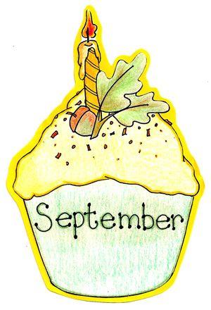 september birthday cupcake months