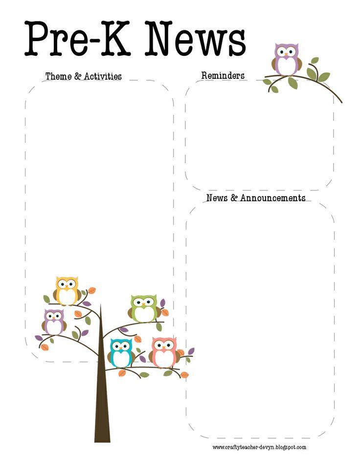 25+ best ideas about Preschool newsletter on Pinterest
