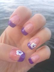 purple french tips nail design