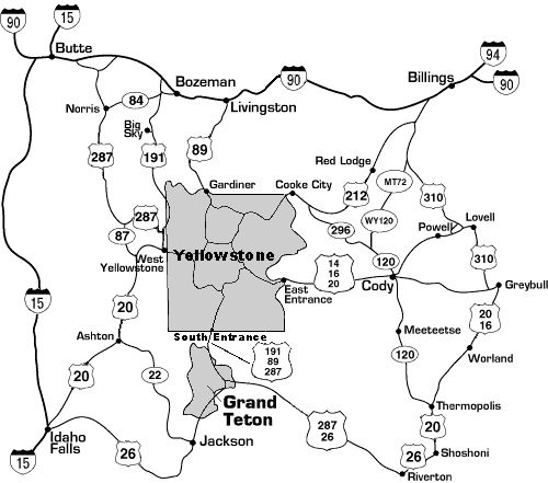 25+ Best Ideas about Yellowstone Map on Pinterest