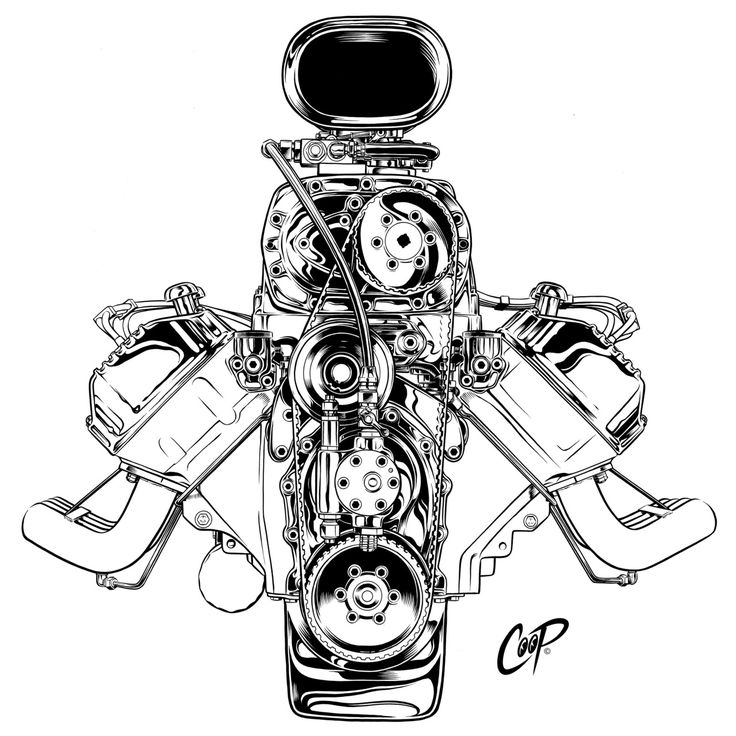 20 Blown 429 Engine Tattoos Ideas And Designs