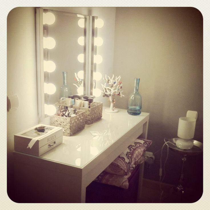 Ikea dressing table  vanity lights    Pinterest  The beauty All things and Dressing