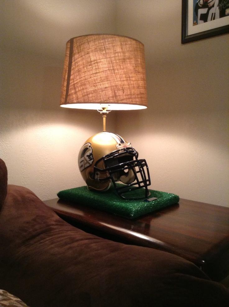 Football helmet lamp  For the Home  Pinterest  Football Helmets and Lamps