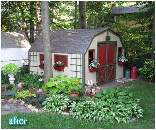 garage landscaping