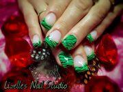 neon green & black zebra design