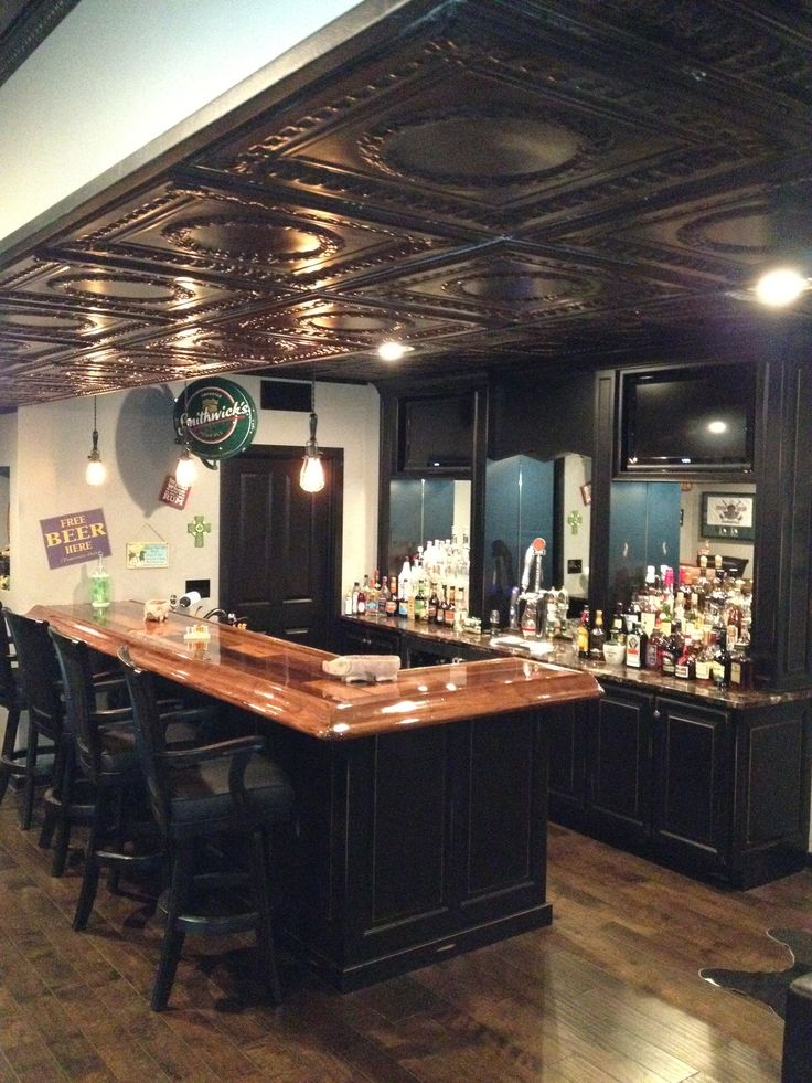 Basement Pub Dig the ceilings  FixrehabIdeas for next
